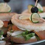 lososový sendvič. lachs. salmon sandwich
