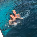 Me and my son! in the sea! I want to come back!!!