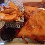 deep fried Monte Cristo sandwich is HUGE