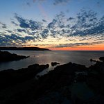 This is a typical sunrise along downeast Maine bold coast