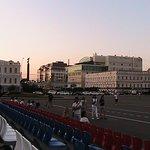 Вид с трибуны Площади Ленина на Александровскую Площадь и Монумент Ангела - хранителя Ставрополя