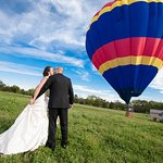 Yep - you can in fact get married in a hot air balloon (or have tethered rides at your reception). Now that is something unique.