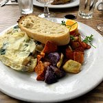 Bay Bottom Omelet. I substituted egg whites for a $2 up-charge. The crab in the omelet is great,