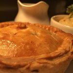 Gloucester Home Game Pie with Cauliflower Cheese