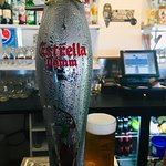 """One of our Beers on draught """"Estrella Damm Barcelona"""""""