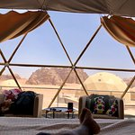 Staying overnight in the Arabian desert of Wadi Rum, in a unique luxury space