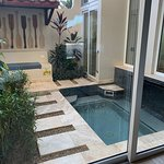 Private plunge pool and sitting area