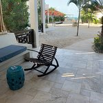 Front patio with hammock