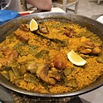 Paella valenciana para dos personas
