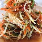 Papaya salad hit & hot menu at Coconut Seafood.