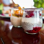 These homemade chia seed puddings are a hit during breakfast.