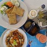 Chimichanga and chilaquiles