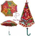 Rajasthani colorful umbrellas. Sun parasols. And decoration purpose. Size 24*28 inches.