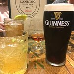 Guinness, Hennessey (neat), Whiskey Smash and a Smoked Jameson & Ginger