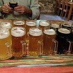 Degustacja piwa.Cztery gatunki dostaniecie butelkowane dwa niestety nie są butelkowane.W sumie 6