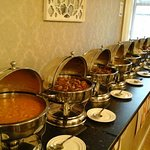 The buffet for the party