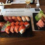 Selection of sushi and tuna tatar