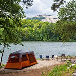 Lakeside Primitive Sites at the Stone Mountain Park Campground