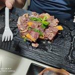 tartare di tonno rosso arancia e menta