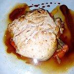 viande sur lit de poivrons