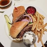 This was my prime rib sandwich, I have never had one that was so tender that melted in your mout