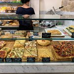 Focaccia and pizza options