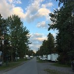 Sunrise, full campground, Tunnel Mountain Trailer Court, July 2019