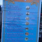 Not the typical food truck menu!