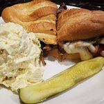 Philly Cheesecake Sandwich, with potato salad  $8.99. Homemade potato salad.