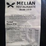 Φωτογραφία: Bar Restaurante Melian