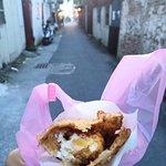 Lao Pai Scallion Pancake With Deep Fried Egg照片