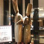 レストランのシェフが制作した彫刻が飾られています。かつて、二科展に入選したとのことです。