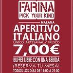 ¡Descubre nuestros Aperitivos Italianos! Un BUFFET LIBRE único. Podrás disfrutar de auténtica comida italiana por solo 7€ más una bebida. Todos los días de 19:00 a 21:00 (Martes cerrado). ¡Haz tu reserva! 951 77 66 98