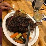 I didn't eat the whole steak.