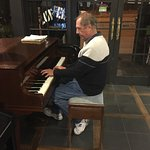 This is near the reception and dining areas. My husband can never resist playing a piano if allo