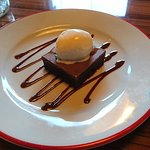 Chocolate Brownie - incredibly delicious (warm and soft on the inside, but the chocolate on top