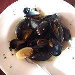 mussels, definitely no