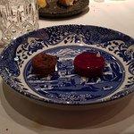 Foie gras, Port wine, blood orange.