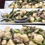 Gnocchi with Italian sausage & asparagus