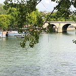 This is a view of the Seine just across the street from the Lutetia.