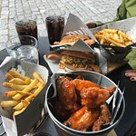 Porvoo hot dogs and hot flaming wings
