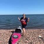Day Tripper of Duluth : This is the mouth of Tischer Creek in Duluth. We eased the boats over the stones and into big, blue Lake Superior.  The day was perfect.  Daytripper will give you the skills and confidence to spend more time on the water.