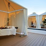 Enjoy your treatment outside with the ocean breeze.