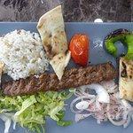 Spicy ground beef kebab