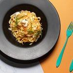 Shrimp adn orange pasta