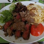 Steak 'La Tagliata' met zwarte truffels