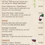 New! Wine List only at Angels!