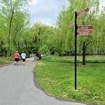 Un beau parc pour faire la course à pied