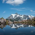 reflection of mount Shuksan in artist ridge trail