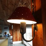 The lamps at Sarkanlinna are by Paavo Tynell